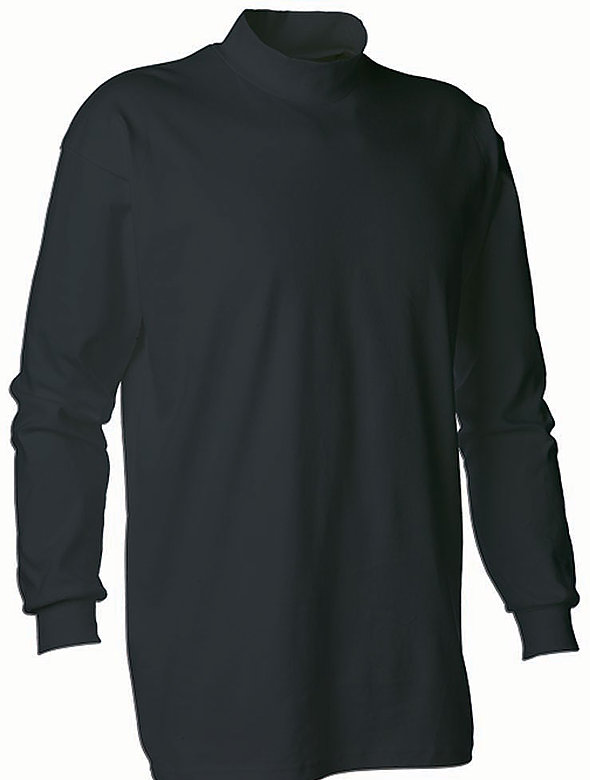 Cotton Mock Neck Shirt
