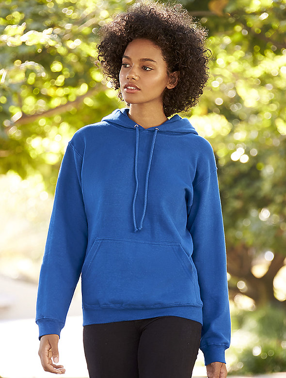 Cotton-Blend Pull-Over Hoodie