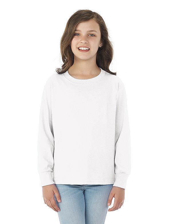8.25oz YOUTH 100% Cotton L/S T