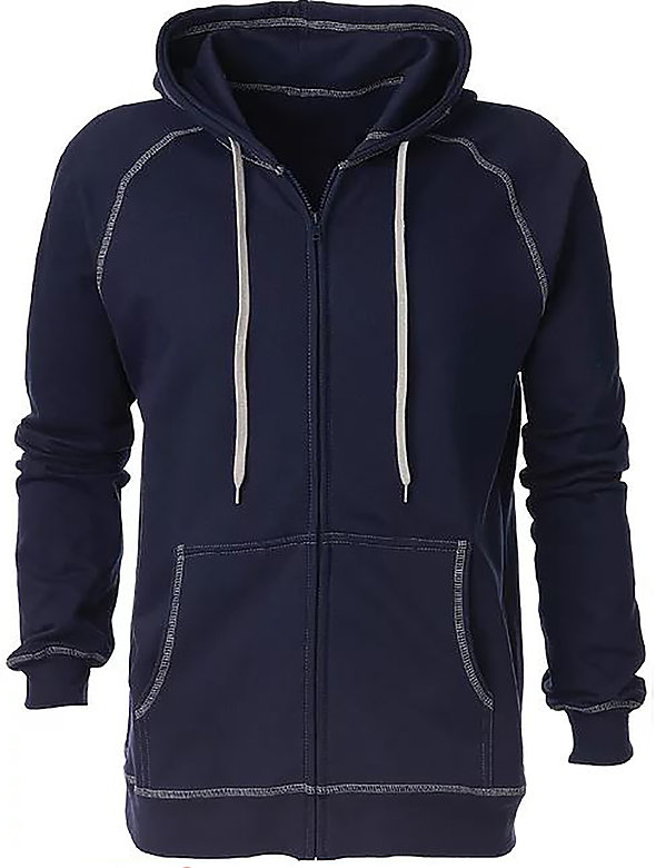 Fleece Full-Zip String Hoodie