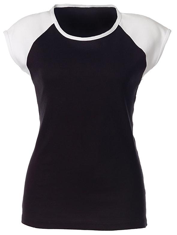 Raglan Cap Sleeve T Shirt