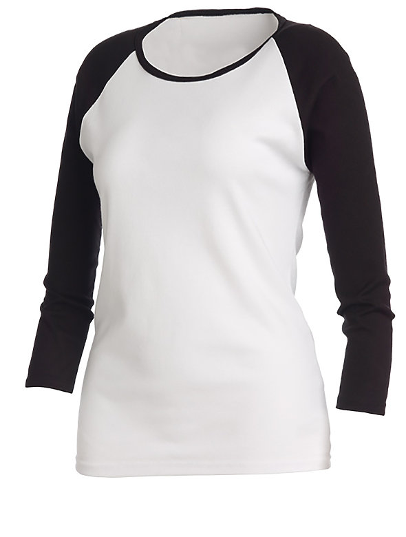 Raglan 3/4 Sleeve T Shirt