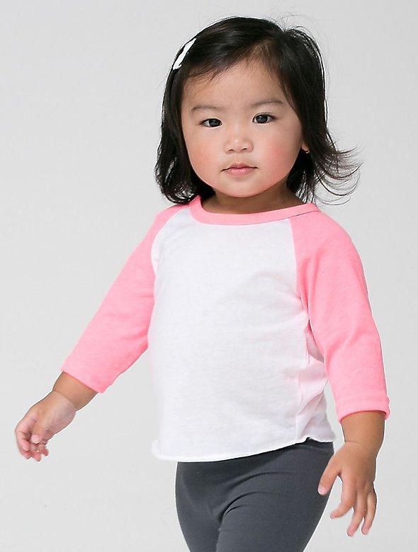 6oz Infant PolyCttn 3/4 Sleeve