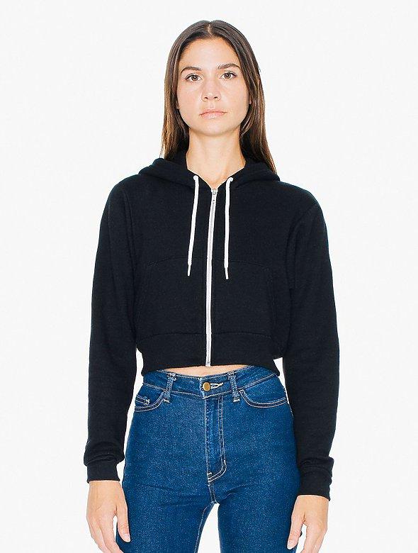 Cropped Full-Zip Hoodie