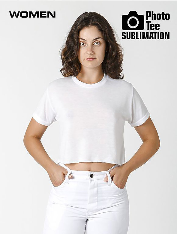 S/S SUBLIMATION CROP TOP